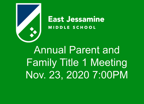 Parent and Family Title One meeting
