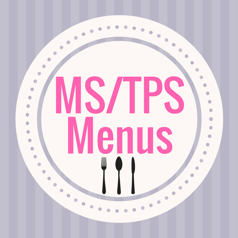 middle school & tps menu