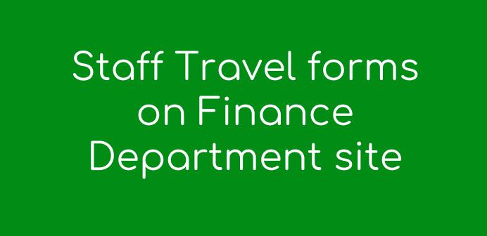 Staff Overnight Travel Forms found on Finance Dept site